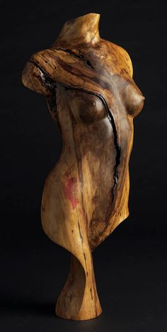 Wood Sculpture Figurative, Ambika, by Chad Awalt-Fine Art and Sculpture in wood