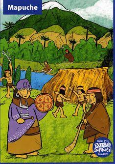 Material Didáctico: Pueblos originarios de Chile Tribal Art, Street Art, 1, Painting, Conquistador, Spanish Language, Origins, Patagonia, Ideas Para