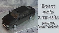 "How to make a car cake with ""glass"" windows / Jak zrobić tort samochód z. Cars Theme Cake, Car Themes, Car Cake Tutorial, Fondant Tutorial, Corvette Cake, Car Shaped Cake, Mustang Cake, Cars Cake Design, Ferrari Cake"