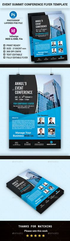 Event\/Conference Flyer Template Flyer template and Business flyers - conference flyer template
