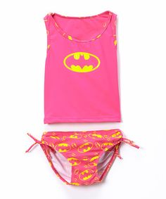 Take a look at this Pink Batgirl Tankini - Infant & Toddler on zulily today!