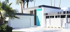 Know Your Home: Mid-Century Modern Style | West | South Exterior Paint Colors For House, Paint Colors For Home, Mid Century Decor, Mid Century House, Z Brick, Palm Springs Houses, Exterior Door Hardware, Mcm House, House 2