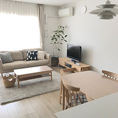 risaさんの部屋全体,北欧,KEYUCA,マンション,ベルメゾン,シンプルインテリア,いいね&フォローありがとうございます☆についての部屋写真