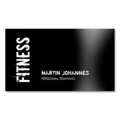 Modern Fitness Personal Trainer Business Card