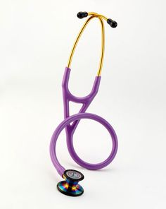 CHECK! THANK YOU MOM!  Littman Cardiology iii stethoscope: purple with rainbow finish on bell.