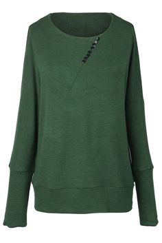 Cupshe Center Of Everything Button Basic Sweater