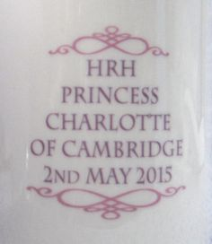 Princess Charlotte Birth Mug Adderley William And Kate English 2015 Photo English Bone China