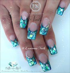 Luminous Blue Nails...