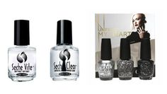 Sparkly alternatives to the french manicure. #nails #manicure #glitter