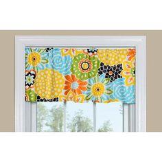 "Contempo Curtains Button Blooms Confetti 50"" Curtain Valance"