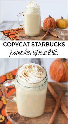 Copycat Starbucks Pumpkin Spice Latte Recipe #copycat #pumpkin #coffee #latte #pumpkinspice #drinks #diy Copycat Starbucks Pumpkin Spice Latte Recipe, Pumpkin Spiced Latte Recipe, Pumpkin Spice Coffee, Spiced Coffee, Pumpkin Recipes, Pumpkin Drinks, Homemade Pumpkin Spice Latte, Healthy Iced Coffee, Pumpkin Tea