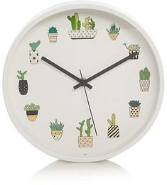 George Home Cactus Wall Clock