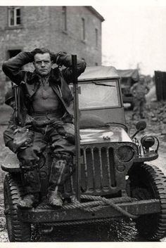 Captured German pilot who was shot down by anti-aircraft fire near Weisweiler Germany fall 1944.