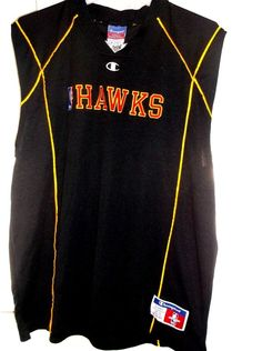 NBA Atlanta Hawks Vintage Champion Basketball Jersey Men's XLarge Sewn Letters #Champion #AtlantaHawks