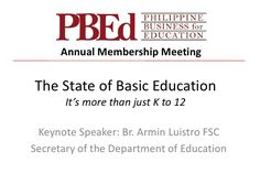 State of Education in the Philippines 2012 by Arangkada Philippines via slideshare