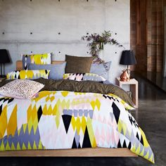 Exclusively designed for Home Republic, the Kip & Co collection offers bright, colourful, vibrant bedlinen for those with a passion for colour and bold patterns. The fabulous Croc design is created from 250 thread count ultrafine cotton percale and features a strikingly unique array of geometric shapes. A contrasting reverse of scattered polka dots across a deep chocolate base creates a chic, fashion forward design ideal for a contemporary home.