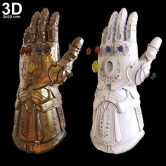 3D Printable Model: Thanos Infinity Gauntlet Forearm & Glove Avengers Infinity War and D23 Version | Print File Format: STL – Do3D.com