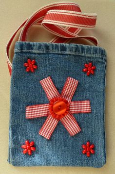 things to make with old jeans | Denim Bags | Emmalm's Blog