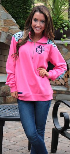 Simply Southern Monogrammed Preppy Pullover! Only at Marleylilly.com
