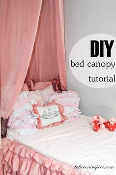 How to Make Super Easy Bed Canopy. when Lily gets into her big girl bed