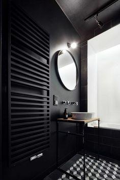 badezimmer schwarz k
