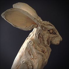 The Yellow Hare. Sculpture by Mary Philpott.