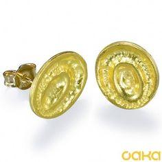 22K Gold earrings designer earrings yellow gold by OakaTitan