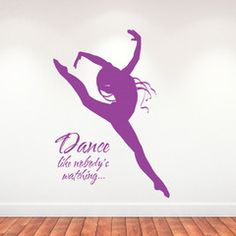 Dance like nobody's watching - personalised wall sticker - wall art - wall decal