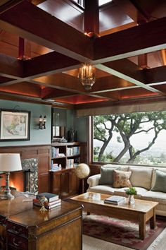 What do I like best.... the robin's egg blue?  the awesome ceiling?  the view?!  from Houzz