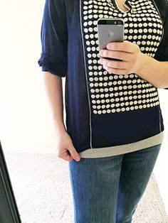 The Adela Embroidered Split Neck Top from Collective Concepts. June Stitch Fix and Review   KaraLayneAndCo.com #StitchFix