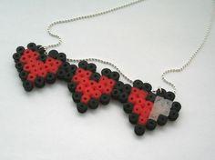 Perler Heart Meter Necklace from Geekilicious
