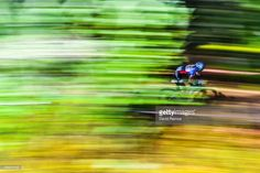A rider competes in the Women's Elite Cross-Country Olympic race of the UCI Mountain Bike & Trials World Championships (Photo by David Ramos) Motion Photography, Bike Photography, David Ramos, Parts Unknown, World Championship, Cross Country, Great Photos, Mountain Biking, Olympics