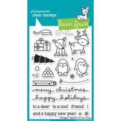 ScrapbookPal.com - Lawn Fawn Clear Stamps - Tobaggan Together, $12.00 (http://www.scrapbookpal.com/lawn-fawn-clear-stamps-tobaggan-together/)