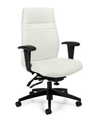 Modern White Leather Office Chair this modern white leather office chair with diamond stitched back