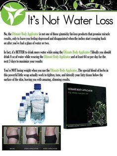 I've seen so many pins about DIY wrapping that will just cause temporary water loss. It Works wraps are not a gimmick! The more you drink the more you shrink! :)