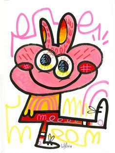 Illustrator: Jon Burgerman Project: New Characters Date: March 2015 Kids Room Art, Art For Kids, Magazine Illustration, Illustration Art, Graffiti Doodles, Doodle Characters, Magazines For Kids, Childhood Toys, Character Illustration