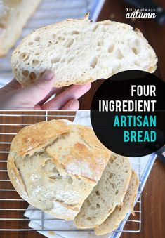 This artisan bread recipe is crazy easy to make! Only four ingredients and no kneading required. Perfect homemade bread for beginners! Artisan Bread Recipes, Easy Bread Recipes, Cooking Recipes, Cheap Recipes, Cornbread Recipes, Jiffy Cornbread, 1 Hour Bread Recipe, Organic Bread Recipe, 4 Ingredient Bread Recipe