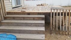New deck, from old decking wood! Yay!