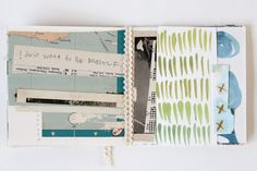 Beautiful collage mini book by Katie Licht. Lovely post too - worth clicking through to read.