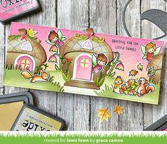 Lawn Fawn Intro: Acorn House, Tiny Gift Box Hedgehog Add-On - Lawn Fawn