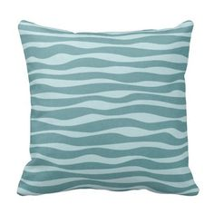 Reversible Ocean Throw Pillow