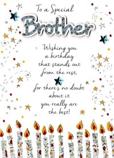 Philip Birthday Card Flat Eco Friendly Handmade Printed For Brother Siww