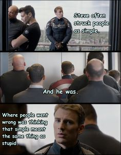 Everyone's number one mistake is thinking that Steve Rogers's most dangerous skill is his fighting ability.