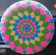 Spiral Diamonds Crochet Spare Tire Cover by WhyNotCrafts on Etsy, $65.00