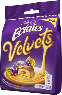 Cadbury Eclairs Velvets in a sharing pouch have a soft caramel and chocolate centre and are encased in Cadbury milk chocolate. Cadbury Milk Chocolate, Chocolate Lovers, Chocolate Pics, British Chocolate, Swiss Chocolate, Fall Snacks, Summer Snacks, Chocolates, Pranks
