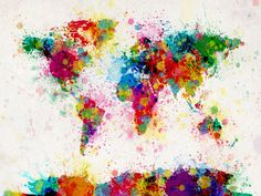Canvas Art Maps | Beautiful Designs of Map Art on Canvas for the Home