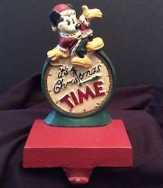 Mickey Mouse Disney Christmas Stocking Holder Hanger Cast Iron Midwest Its Time