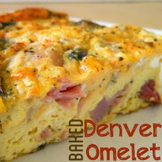 This Baked Denver Omelet was easy and great for leftovers- I'll be using this again with leftover #Easter ham for sure!  Delicious! @Allrecipes