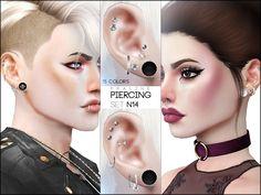 Piercings in 15 colors,  all genders.  Found in TSR Category 'Sims 4 Female Earrings'