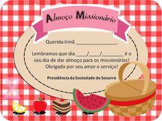 As Tontas Vão Ao Céu: Cartão - Lembrete do Almoço Missionário